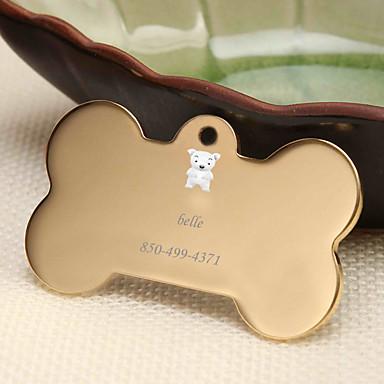 Personalizado Personalizado Cachorrinho Pet Tags Clássico Presente Diário 1pcs Dourado Prata Rosa Dourado