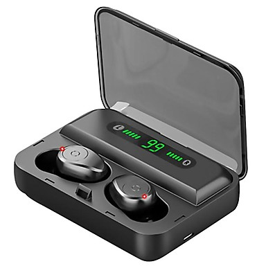 cheap Headphones & Earphones-Z-YeuY F9-5 TWS True Wireless Earbuds Bluetooth Earphone W/Digital Display 3000mAh Power Bank