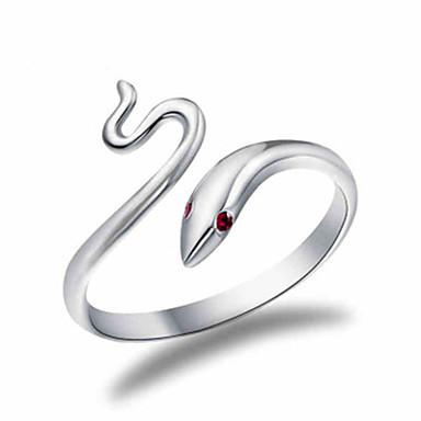 billige Motering-Herre Dame Ring 1pc Hvit Kobber Sirkelformet Grunnleggende Koreansk Mote Festival Smykker Slange Dyr Smuk