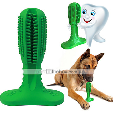 cheap Dog Toys-Dog Toothbrushes Tooth Cleaner Silica Gel Brush Durable Wear Resistance Pet Grooming Supplies Green Blue 1