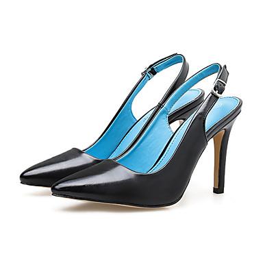 levne Dámské sandály-Dámské Sandály Vysoký úzký Palec do špičky Přezky Guma Na běžné nošení Jaro & podzim Černá