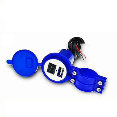 levne Auto Elektronika-univerzální vodotěsný 12v až 5v 1,5a motocykl chytrý telefon gps usb nabíječka napájecí adaptér