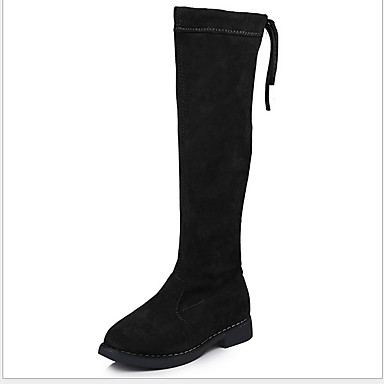 cheap For ages 7yrs+-Girls' Comfort Suede Boots Big Kids(7years +) Black / Coffee / Red Winter / Knee High Boots