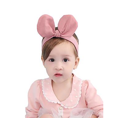 preiswerte Kinder Kopfbedeckungen-Baby / Kleinkinder Mädchen Aktiv / Süß Solide Haarzubehör Rosa / Gelb Einheitsgröße