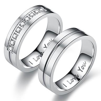 levne Pánské šperky-Pánské Dámské Band Ring Prsten Tail Ring 1ks Zlatá Stříbrná Nerez Kulatý Přizpůsobeno Vintage Základní Dar Denní Šperky