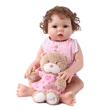 preiswerte Puppen-NPK DOLL Lebensechte Puppe Wiedergeborene Kleinkind-Puppe Baby Mädchen 22 Zoll Sicherheit Geschenk Niedlich Kinder Unisex Spielzeuge Geschenk