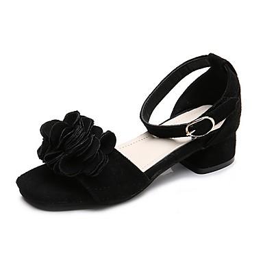 저렴한 아동 샌달-여아 플라워 걸 신발 Synthetics 샌들 빅 키즈 (7 년 +) 블랙 / 레드 / 핑크 여름