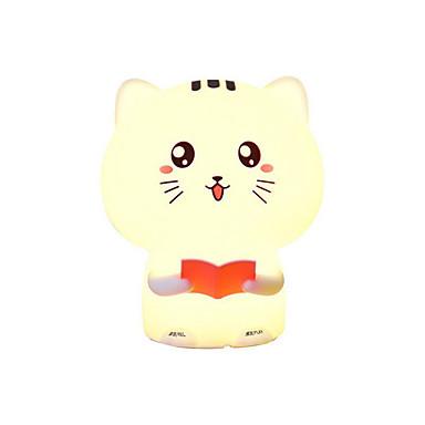 1pc הוביל חתול חמוד לילה אור לילדים חם לבן USB יצירתי 5 v