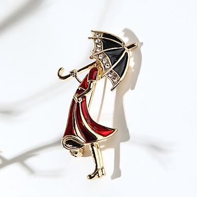 levne Dámské šperky-Dámské Brože Princezna Deštník Cute Style Brož Šperky Zlatá Pro Denní