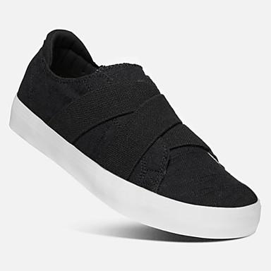 levne Dámské boty s plochou podrážkou-Unisex Bez podpatku Creepers Oblá špička Plátno Léto Černá / Světle modrá / Béžová