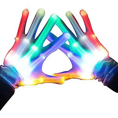 voordelige Noviteiten & Fopspeelgoed-LED-verlichting Oplichtend speelgoed LED-handschoenen Vingerlichten Glans Ouder-kind interactie Kinderen Tiener voor Verjaardagscadeaus en Feestartikelen 2 pcs