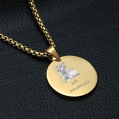 preiswerte Maßgeschneiderter Schmuck-Personalisiert Angepasst Seidiger Terrier Haustier-Umbauten Klassisch Geschenk Alltag 1pcs Gold Silber