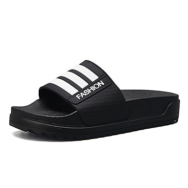 cheap Men's Slippers & Flip-Flops-Men's Comfort Shoes PU Spring & Summer Classic / Casual Slippers & Flip-Flops Breathable Black / White / Black / Red / Black / Blue