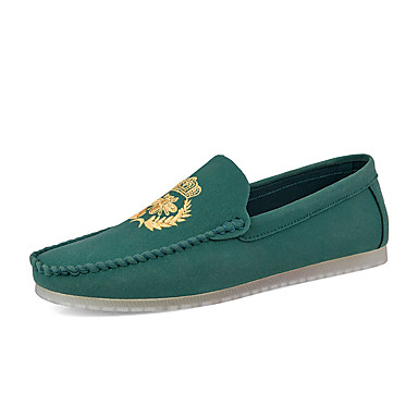 cheap Men's Slip-ons & Loafers-Men's Comfort Shoes Summer Casual Daily Outdoor Loafers & Slip-Ons PU Wear Proof Yellow / Orange / Green