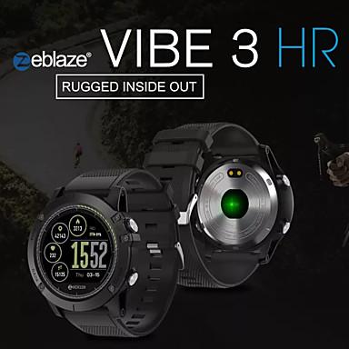 preiswerte Smartuhren-Zeblaze Vibe 3 Stunden Smart Watch BT Fitness-Tracker-Unterstützung Benachrichtigen / Pulsmesser Sport lange Standby-Smartwatch-kompatiblen iOS / Android-Handys