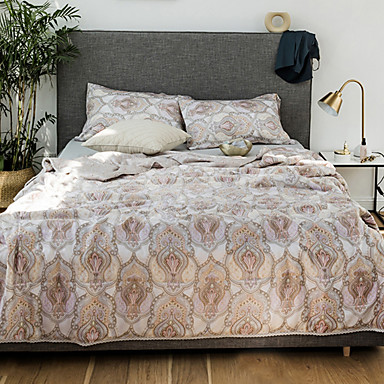 cheap Quilts & Coverlets-Comfortable - Two Shams Summer Polyester Geometric