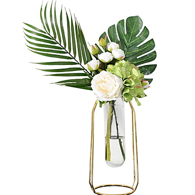 Flores artificiais 1 Ramo Clássico Modern Flores eternas Flor de Mesa