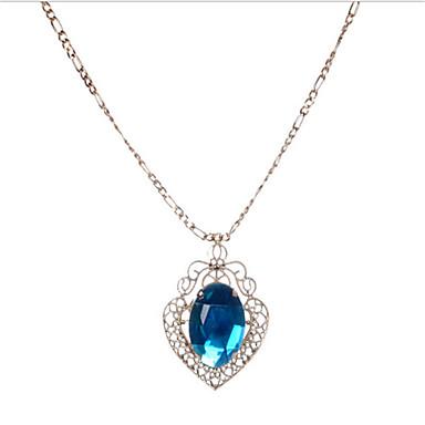 povoljno Modne ogrlice-Žene Sintetički akvamarin Ogrlice s privjeskom Geometrijski Srce Etnikai Krom Peacock Green 45+6 cm Ogrlice Jewelry 1pc Za Dnevno Praznik