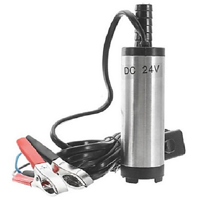 voordelige Auto-interieur accessoires-12v / 24v elektrische dieselpomp brandstof waterolie draagbare roestvrijstalen dieselpomp oliepomp dompelpomp dieselpomp
