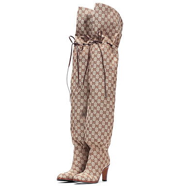 preiswerte Herbst & Winter Pre Sales-Damen Stiefel Over-the-Knie Stiefel Blockabsatz Runde Zehe Mikrofaser Übers Knie Klassisch / Britisch Frühling Sommer / Herbst Winter Mandelfarben / Rot / Rosa / Party & Festivität