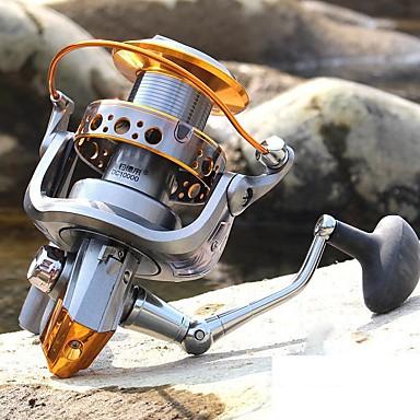 Molinetes de Pesca Molinetes Rotativos 5.1:1 Relação de Engrenagem+14 Rolamentos Orientação da mão Trocável Pesca de Mar / Rotação