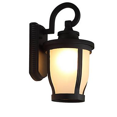 Lâmpada de parede rústica interior ao ar livre lanterna de parede à prova d 'água rodada sombra arandelas de parede antigo com sombra de vidro para o corredor da porta da villa