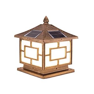 QIHengZhaoMing 1pç 20 W Luzes do gramado Impermeável / Solar Branco Quente 3.2 V Pátio 20 Contas LED