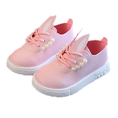 preiswerte LED Schuhe-Mädchen Komfort PU Sneakers Kleine Kinder (4-7 Jahre) / Große Kinder (ab 7 Jahren) Perle Weiß / Grün / Rosa Herbst