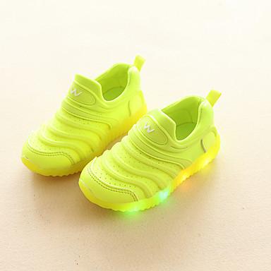 preiswerte LED Schuhe-Jungen / Mädchen Komfort PU Loafers & Slip-Ons Kleinkind (9m-4ys) / Kleine Kinder (4-7 Jahre) Schwarz / Gelb / Rosa Frühling / Herbst / Gummi