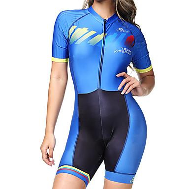 boestalk femme manches courtes tenue de triathlon trifonction bleu de minuit rayure v lo