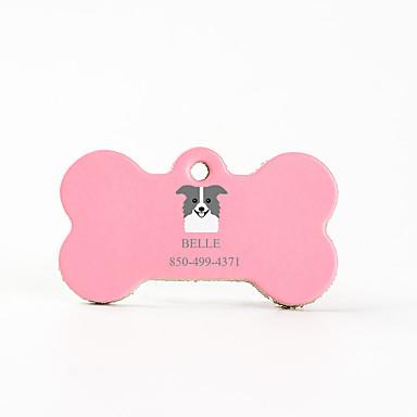 Personalizado Personalizado Border Collie Pet Tags Clássico Presente Diário 1pcs Rosa Azul Céu Café / Inscrições a Laser