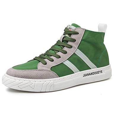 preiswerte Schuhe und Taschen-Herrn Komfort Schuhe Leinwand Frühling / Herbst Sport / Freizeit Sneakers Schwarz / Grün / Grau