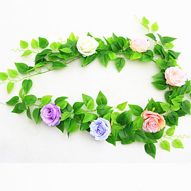 Flores artificiais 1 Ramo Clássico Modern Plantas Guirlandas & Flor de Parede