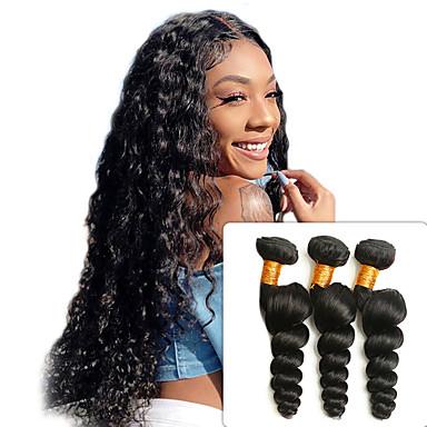 povoljno Ekstenzije od ljudske kose-3 paketa Peruanska kosa Valovita kosa Remy kosa 100% Remy kose tkanja Bundle Ljudske kose plete Produžetak Bundle kose 8-28 inch Natural Isprepliće ljudske kose dizajneri Prirodno Najbolja kvaliteta