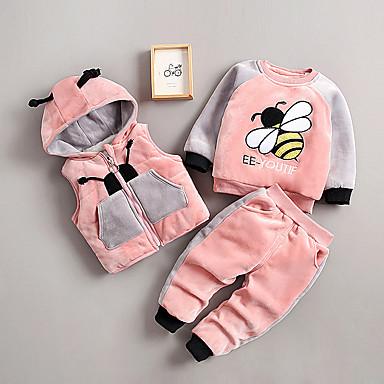 povoljno Odjeća za dječake-Dijete koje je tek prohodalo Dječaci Osnovni Crtani film Kolaž Kratkih rukava Regularna Normalne dužine Komplet odjeće Blushing Pink
