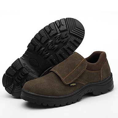 Homens Sapatos Confortáveis Couro Verão Mocassins e Slip-Ons Use prova Marron