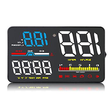 levne Auto Elektronika-zvýraznit led barevný displej hud displej auto diagnostický nástroj elm327 rychlost / teplota vody / napětí displej
