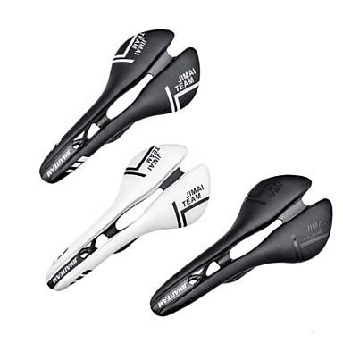 povoljno Dijelovi za bicikl-JIMAITEAM Sjedalo Mala težina Prozračnost Udobne Šuplji dizajn Carbon Fiber Koža Cijeli ugljen Biciklizam Cestovni bicikl Mountain Bike BMX Crn Crno bijela  / Obala / Ergonomsko / Ergonomsko