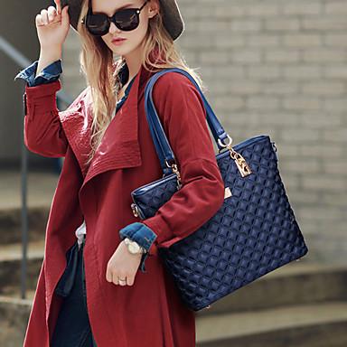 preiswerte Taschensets-Damen Reißverschluss Oxford Tuch Bag Set Volltonfarbe 6 Stück Geldbörse Set Schwarz / Purpur / Fuchsia