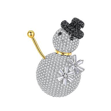preiswerte Brosche-Herrn Damen Broschen Schick Schneeflocke Luxus Modisch Elegant Mehrfarbig Perlen Diamantimitate Brosche Schmuck Weiß Für Weihnachten Hochzeit Geschenk Strasse Versprechen