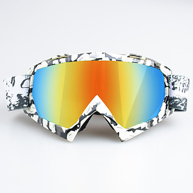 billige Motorsykkel & ATV tilbehør-unike motorsykkel langrennsbriller som sykler skibrillebriller for utendørs sportsramme colorzebra frame - rød linse