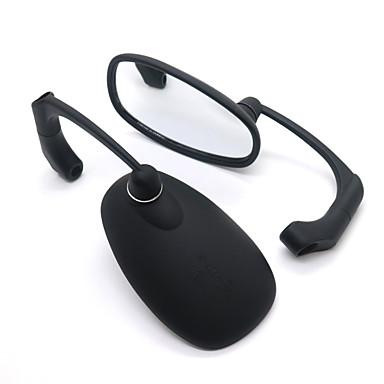 billige Bildeler-universal motorsykkel cnc krom svart ellipse bakspeil sidespeil håndtak bar ender speil 8mm 10mm for gatesykkel