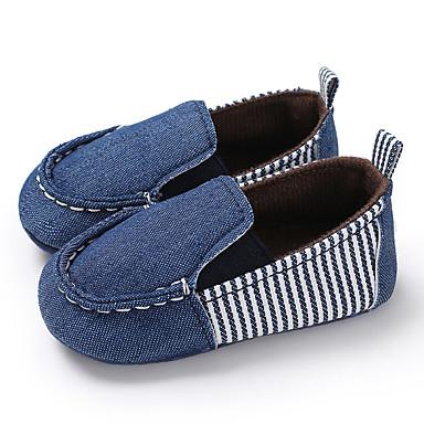 preiswerte Kinderhalbschuhe-Jungen / Mädchen Lauflern Leinwand Loafers & Slip-Ons Kleinkinder (0-9 m) / Kleinkind (9m-4ys) Blau / Denim Blue Frühling / Herbst
