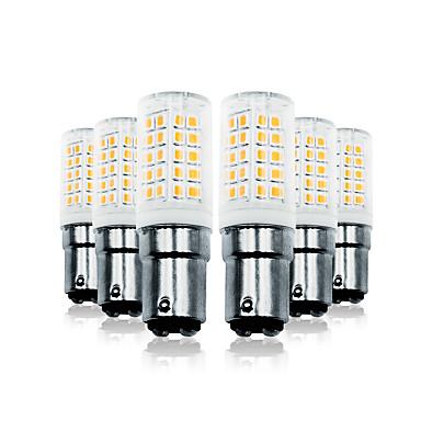 Loende 6 pacote 6 w escurecimento levou luzes de milho 110-130 v 200-240 v 700lm ba15d 64 leds lâmpada led smd2835 branco / branco quente