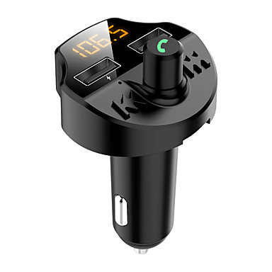 cheap Bluetooth Car Kit/Hands-free-Bluetooth 5.0 Car FM Transmitter Handsfree Call Car Charger Wireless Bluetooth Radio Receiver Mp3 Music Stereo Adapter Dual USB Port Charger Compatible for All Smartphones