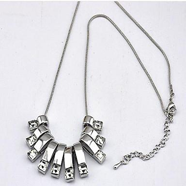 levne Dámské šperky-Dámské Křišťál Náhrdelníky s přívěšky Geometrické Gypsophila Módní Chrome Stříbrná 60 cm Náhrdelníky Šperky 1ks Pro Denní Dovolená
