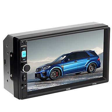 levne Auto Elektronika-7 palcový dotykový displej do auta stereo mp5 přehrávač fm rádio aux bluetooth video přehrávač médií