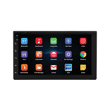 cheap Car Electronics-7'' Android 8.1 Double 2 DIN 16G Quad Core GPS Car Stereo MP5 Player FM support Rear Camera