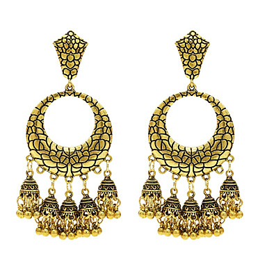 levne Dámské šperky-Dámské Visací náušnice Dvojitý řetízek XOXO Náušnice Šperky Zlatá / Stříbrná Pro Denní 1 Pair