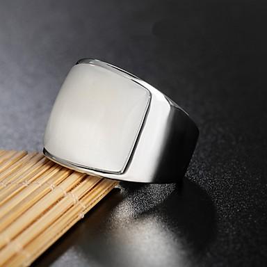 billige Motering-Herre Band Ring Ring 1pc Blå Rosa Lyseblå Titanium Stål Sirkelformet Vintage Grunnleggende Mote Daglig Smykker